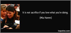 It Is Not Sacrifice